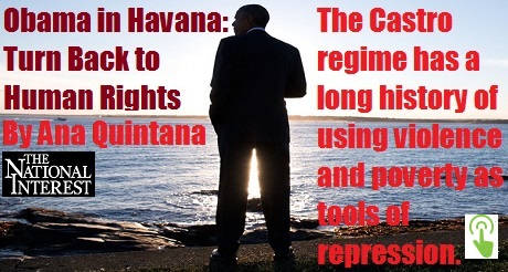 Obama in Havana back Human rights