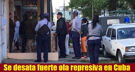 Ola represiva en Cuba