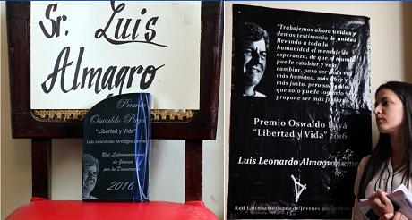 Premio Osvaldo Paya Luis Almagro