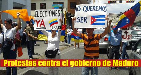 Ptotestas contra Maduro