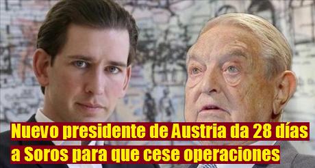 Sebastian Kurz Soros