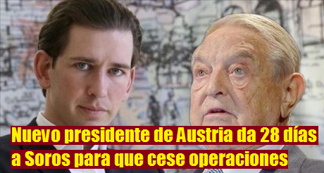 Sebastian Kurz Presidente de Austria George Soros