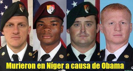 Soldados estadounidenses murieron en Níger
