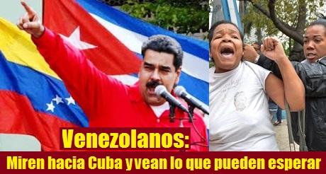 Venezolanos miren hacia Cuba