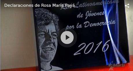 Video Declaraciones Rosa Maria Paya