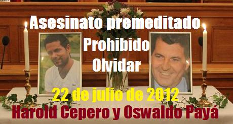 Asesinato Premeditado De Osvaldo Paya Harold Cepero