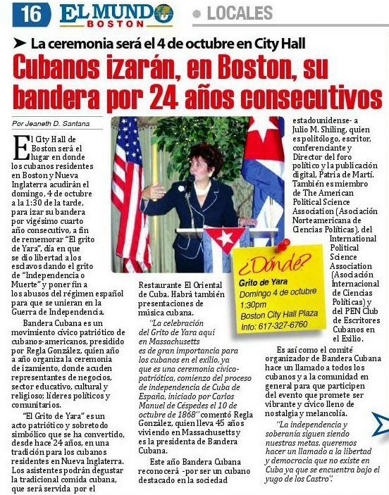 2015 10 01 Articulo evento Bandera Cubana 1