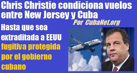 chris christie condiciona vuelos a Cuba