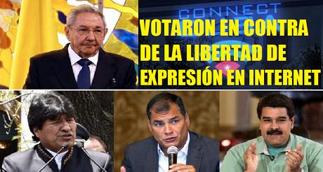 contra libertad expresion internet FB