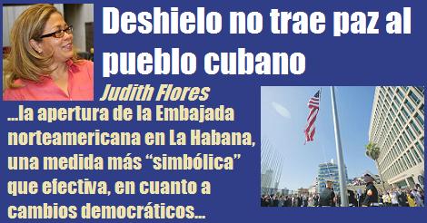 Deshielo No Trae Paz Al Pueblo Cubano Judith Flores
