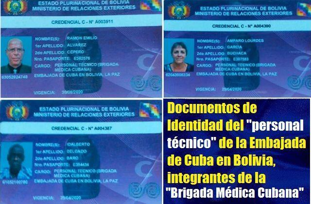 documentos de identidad de cubanos arrestados