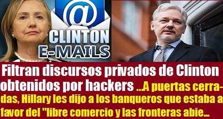 Filtran Discursos Privados De Hillary Clinton