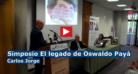 Carlos Jorge Paya Simposio Oswaldo Paya FB