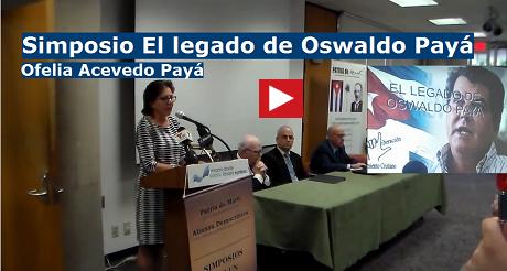 Ofelia Acevedo Paya Simposio Oswaldo Paya FB