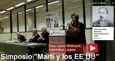 Rosa Leonor Whitmarsh Simposio Marti EEUU FB