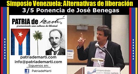 José Benegas - Simposio Venezuela: Alternativas de liberación