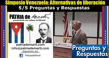 Preguntas y Respuestas - Simposio Venezuela: Alternativas de liberación