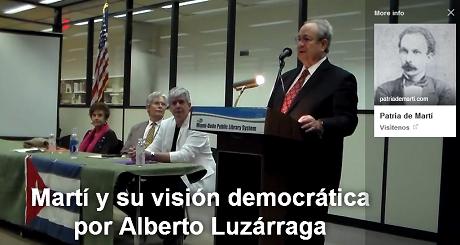 simposio Marti vision democratica Alberto Luzarraga