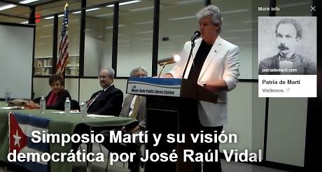 simposio Marti vision democratica Jose R Vidal