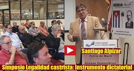Santiago Alpizar Simposio Legalidad Castrista FB