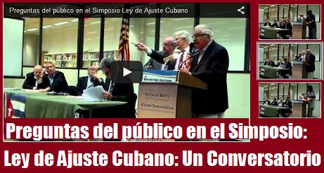 preguntas del publico ley de ajuste cubano