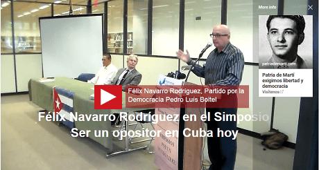 Felix Navarro ser un opositor Cuba