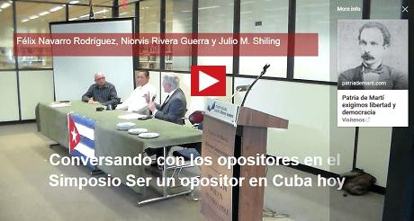 conversando simposio ser un opositor Cuba