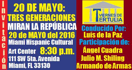 invitacion 20 de mayo tres generaciones