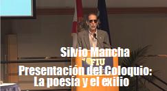 Silvio Mancha presenta coloquio poesia exilio