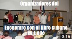 organizadores encuentro libro cubano exiliado