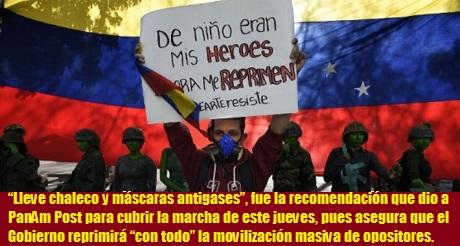 marcha opositora Venezuela