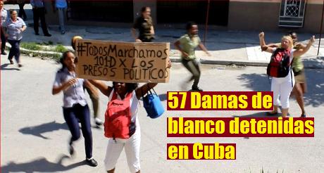 Opositoras detenidas en Cuba