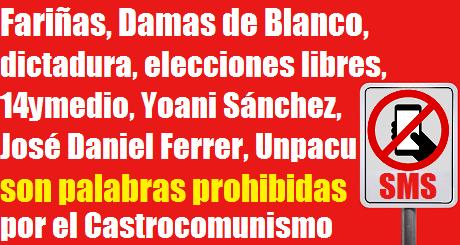 palabras prohibidas por el Castrocomunismo