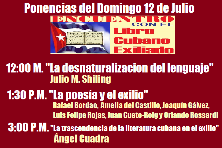 ponencias del domingo 12 de julio