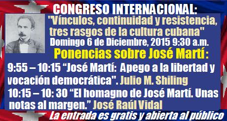 ponencias sobre Jose Marti