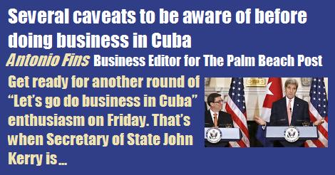 Several Caveats Business Cuba