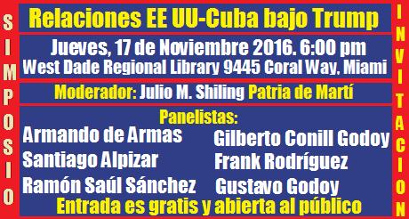simposio relaciones Cuba EEUU bajo Trump