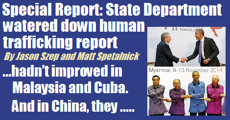 special report state department watered down human trafficking report2015