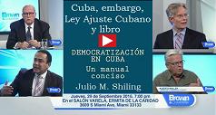Cuba embargo Ley ajuste cubano libro democratizacion 238x127
