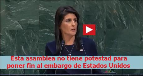 Discurso de Nikki Haley en la ONU Embargo Cuba-FB.png