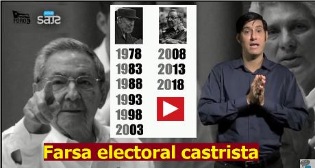 Farsa electoral castrista