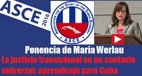 La Justicia transicional Maria Werlau FB