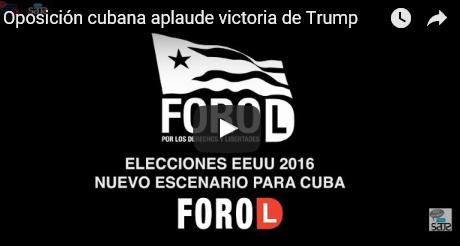Oposicion cubana aplaude victoria de Trump FB