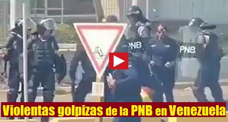 Violenta golpiza de la PNB a manifestante FB