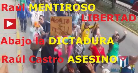 cubanos protestan embajada Castrocomunista Ecuador FB