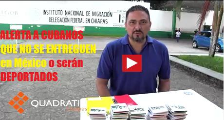 cubanos son deportados desde Mexico FB