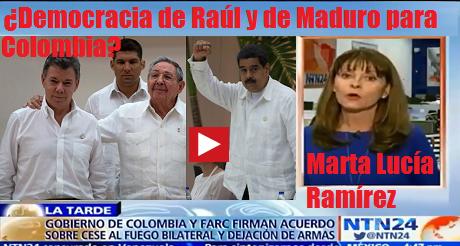 Democracia De Raul Y Maduro Para Colombia No FB
