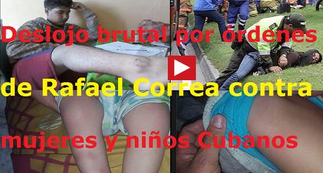 desalojo brutal contra mujeres ninos Rafael Correa FB