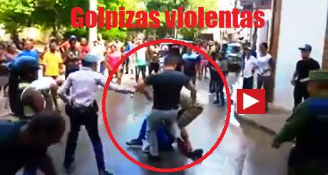 golpiza violenta a cubanos FB