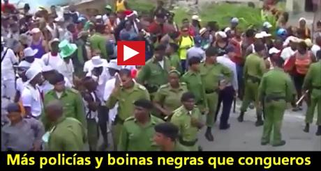 mas policias que congueros Santiago de Cuba